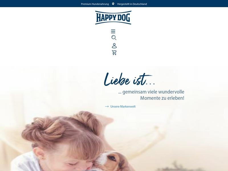 Screenshot von www.happydog.de